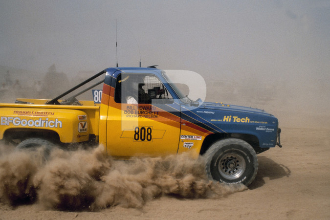 1984 SCORE - Southern California Off Road Enthusiasts Mint 400 - Las Vegas -Trucks And VW Based rigs doing jumps