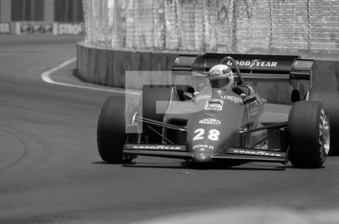 1984 FIA - Federation Internationale de lAutomobile Formula 1 Strohs Dallas Grand Prix - July 8th - Fair Park Dallas Texas Temporary Street Circuit
