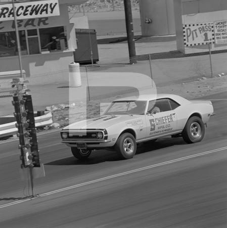 1968 Chevrolet El Camino SS Drag Test - Irwindale - Schiefer Camaro - Cutlass
