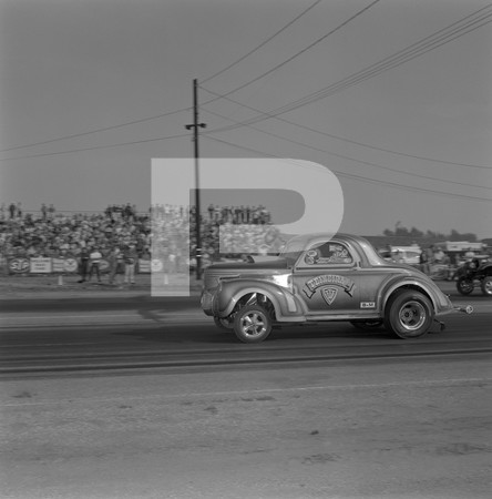 1969 6th Annual Hot Rod Magazine Drag Races-Pontiac Tunnel Port-Riverside