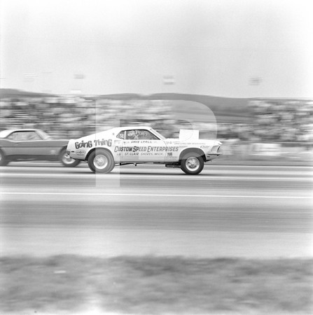1969 Super Stock Nationals - 428 Ford - Black Wood Charger - George Montgomery - Eddie Schartman
