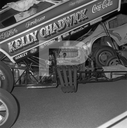 1972 Orange County Raceway Funny Car Revue - Barris Raider Coach Hot Rod Show Car - Corvettes