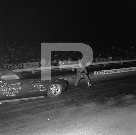 1972 Orange County Raceway Funny Car Revue - Ramchargers Challenger - Prudhomme Snake At Line