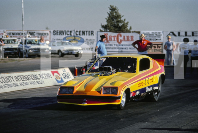 1978 NHRA Regal Ride Manufacturers Meet Funny Cars - Orange County International Raceway