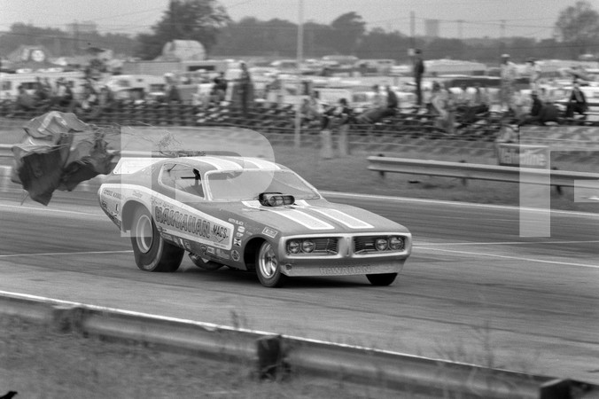 1972 American Hot Rod Association And Professional Racers Association 1st Annual National Challenge - Tulsa International Raceway - Hawaiian funny car, Don Garlits