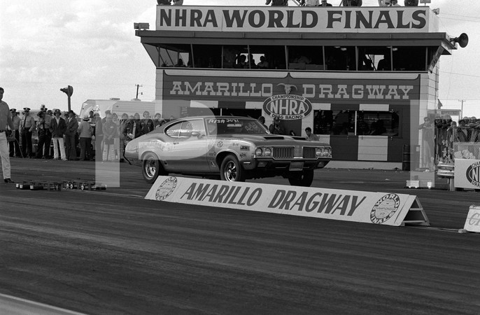 1972 NHRA World Finals - Amarillo Dragway Texas - 7301 pp 100-102, 110 funny cars, top fuel, pro stock Grumpy Vega, Trojan Horse Mustang funny car