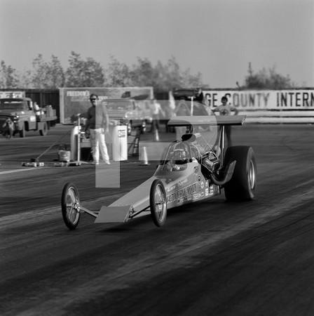 1972 US Navy Recruiting Race - Orange County International Raceway - Roy Mehus Dragway Patrol  car, Mustang funny car, top fueler Walton & Cerny