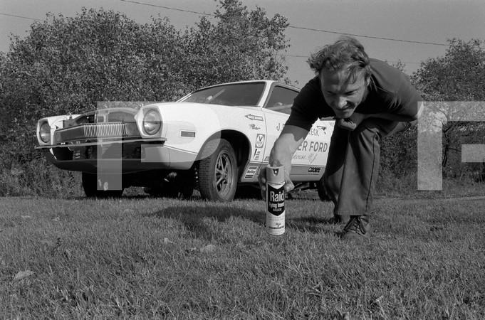 1972 NHRA World Finals - Amarillo Dragway Texas - CJ Batten Keck Pinto exterior photos and engine bay