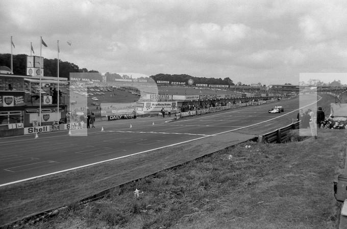 1972 FIA Formula 1 25th British Grand Prix - Brands Hatch Longfield Kent England - no photographer named Garner found, no article found, parking lot, people