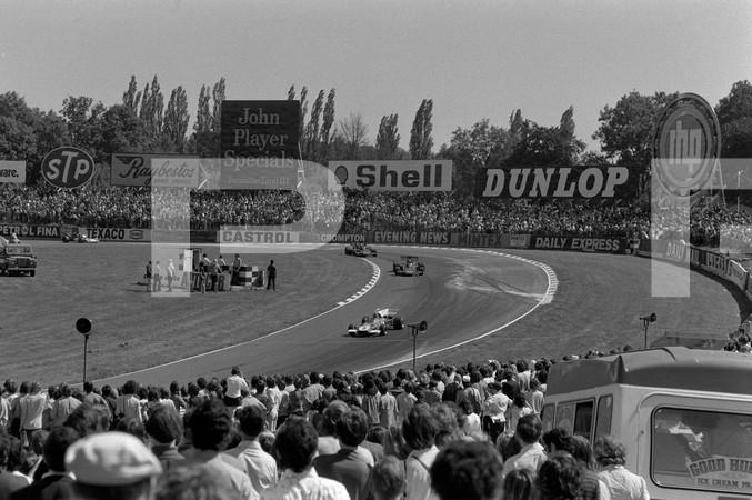1972 FIA Formula 1 25th British Grand Prix - Brands Hatch Longfield Kent England - no article found, spectators, pits, starting grid, grandstand